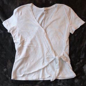 Wrap Tie Front T-Shirt (XS)